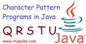 Q R S T and U character pattern programs in Java