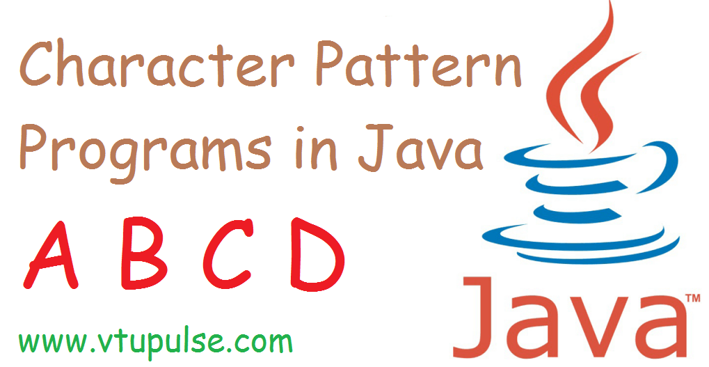 A B C and D character pattern programs in java