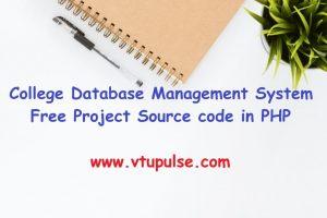College Database Management System
