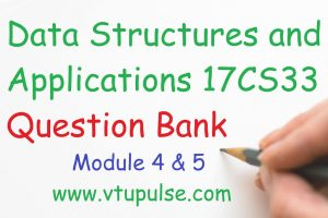 Data Structures and Applications – 17CS33 Question Bank 3