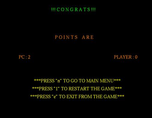 2D Game result