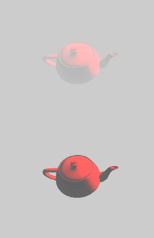 Increase and decrease of fog on objects and rotation
