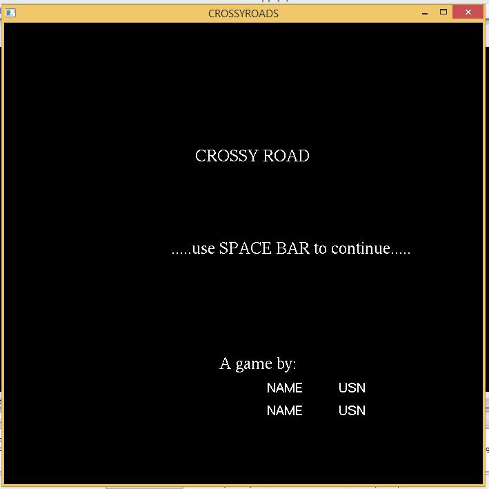 Cross Road Game