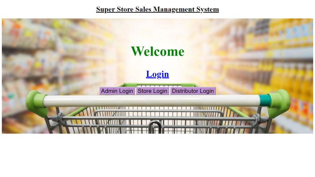 Welcome Page  - Home Page