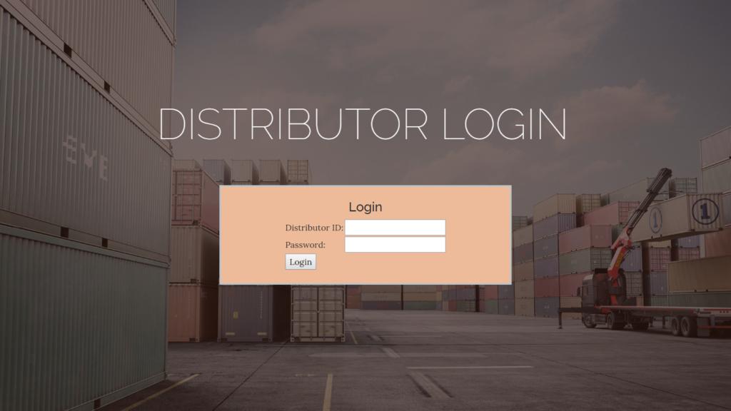 Distributor Login
